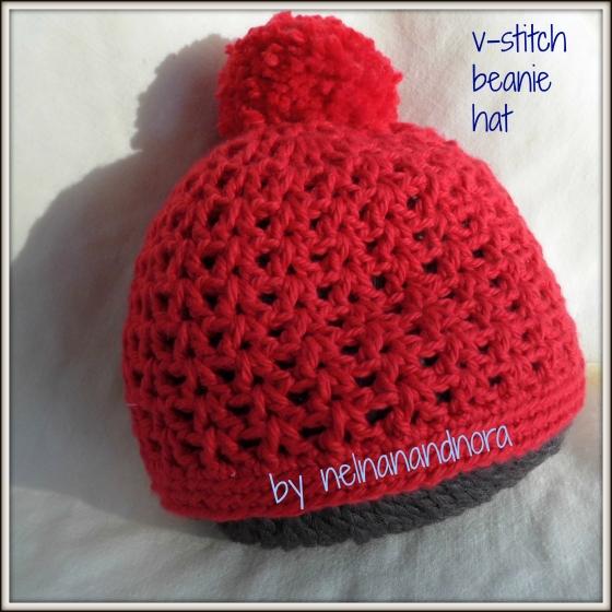v-stitch beanie
